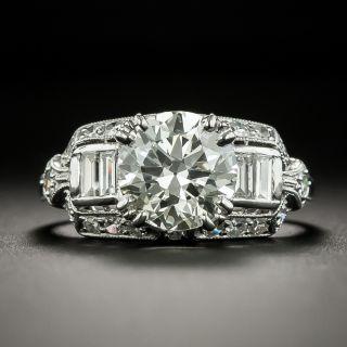 Art Deco 2.08 Carat Diamond Engagement Ring by Loretz and Benoit - GIA K VS2 - 1