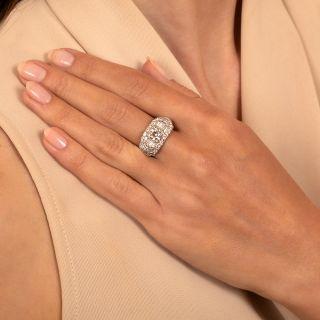 Art Deco 2.08 Carat Diamond Engagement Ring by Loretz and Benoit - GIA K VS2