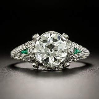 Art Deco 2.09 Carat Diamond Engagement Ring - GIA I VS1 - 3