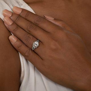 Art Deco 2.09 Carat Diamond Engagement Ring - GIA I VS1