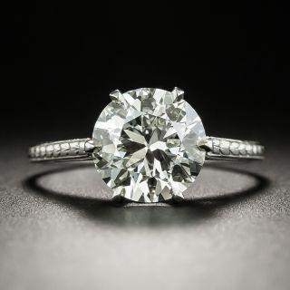 2.17 Carat Art Deco Diamond Engagement Ring - GIA L VVS2 - 2