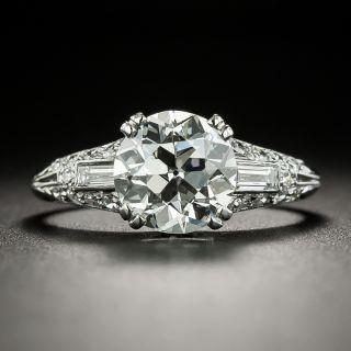 Art Deco 2.21 Carat Diamond Engagement Ring  - GIA I VVS2 - 2