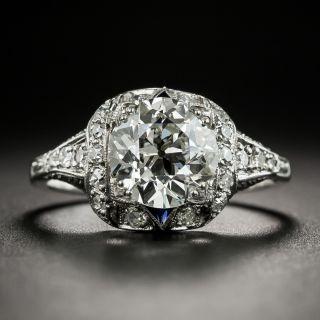 Art Deco 2.25 Carat Diamond Platinum Engagement Ring - GIA J SI1 - 2