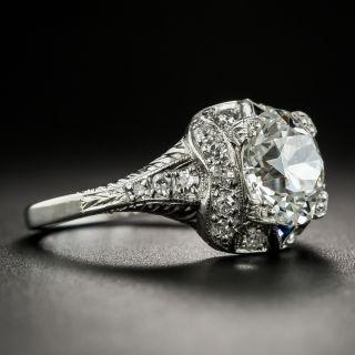 Art Deco 2.25 Carat Diamond Platinum Engagement Ring - GIA J SI1