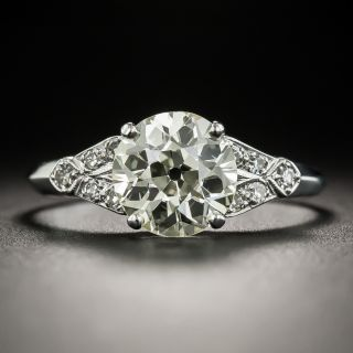 Art Deco 2.28 Carat Diamond Engagement Ring - GIA - 2