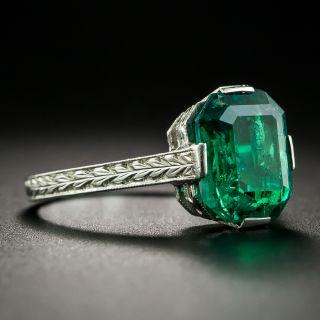 Art Deco 2.30 Carat Emerald Engagement Ring
