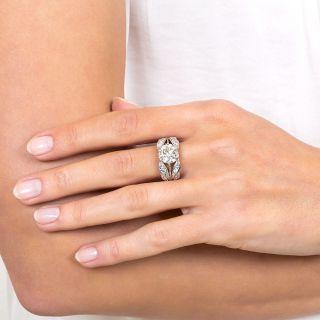 Art Deco Style 2.36 Carat Diamond Engagement Ring - GIA