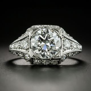 Art Deco 2.45 Carat Diamond Engagement Ring - GIA F VS2 - 2