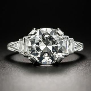 Art Deco 2.45 Carat Diamond Platinum Engagement Ring - K VS2 - 2
