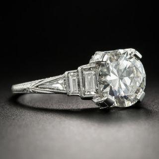 Art Deco 2.45 Carat Diamond Platinum Engagement Ring - K VS2