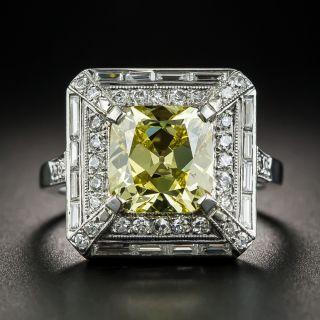 Art Deco 2.51 Fancy Intense Yellow Diamond Ring - GIA - 1