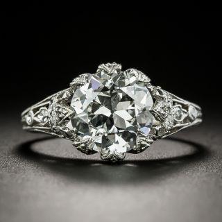 Art Deco 2.70 Carat Diamond Engagement Ring - GIA F SI2 - 3