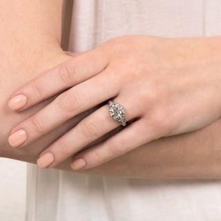 Art Deco 2.70 Carat Diamond Engagement Ring - GIA F SI2