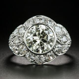 Art Deco 2.77 Carat Diamond Engagement Ring - GIA - 2