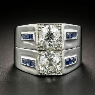 Art Deco 2.85 Carat Double Diamond Ring - 1