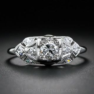 Art Deco .20 Carat Diamond Engagement Ring - 1