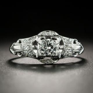 Art Deco .20 Carat Diamond Engagement Ring - 2