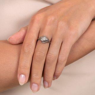 Art Deco .20 Carat Diamond Filigree Engagement Ring