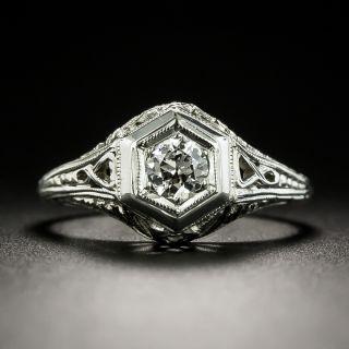 Art Deco .20 Carat Solitaire Engagement Ring - 1