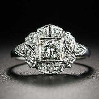 Art Deco .23 Carat Diamond Engagement Ring - 2