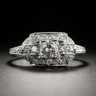 Art Deco .25 Carat Diamond Platinum Engagement Ring - 2