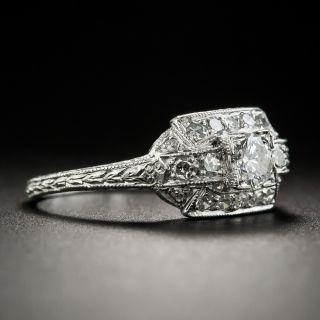 Art Deco .25 Carat Diamond Platinum Engagement Ring