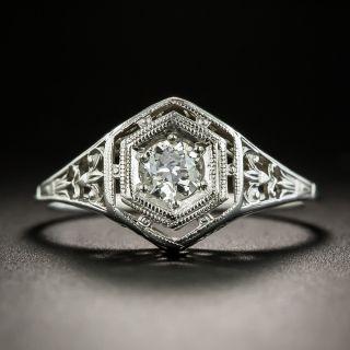 Art Deco .25 Carat Diamond Solitaire by Belais Bros. - 2