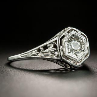 Art Deco .25 Carat Diamond Solitaire by Belais Bros.
