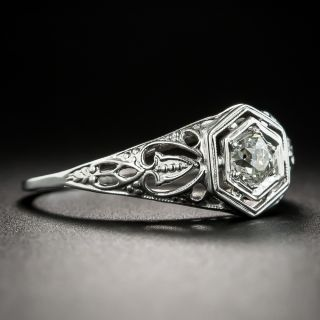 Art Deco .25 Carat Diamond Solitaire Engagement Ring