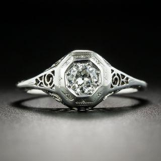 Art Deco .25 Carat Diamond Solitaire - 2