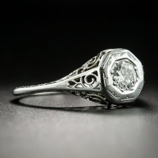 Art Deco .25 Carat Diamond Solitaire