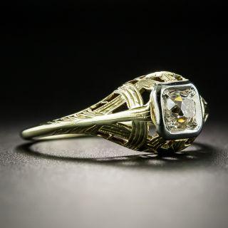 Art Deco .28 Carat Diamond Engagement Ring by Oscar E. Place & Sons