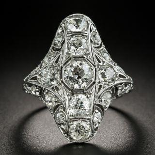Art Deco 3.25 Carat Total Weight Diamond Dinner Ring - 2