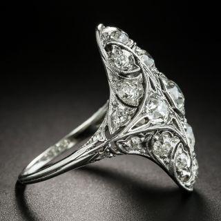Art Deco 3.25 Carat Diamond Platinum Dinner Ring