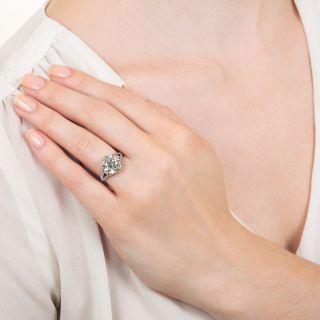 Art Deco 3.30 Carat Diamond Engagement Ring - GIA M SI1