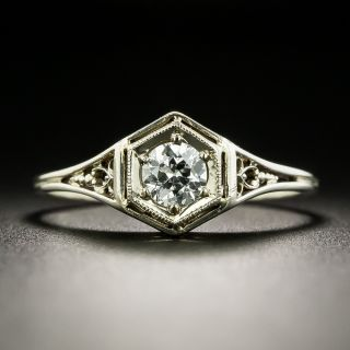 Art Deco .30 Carat Diamond Engagement Ring - 2