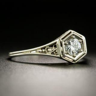 Art Deco .30 Carat Diamond Engagement Ring