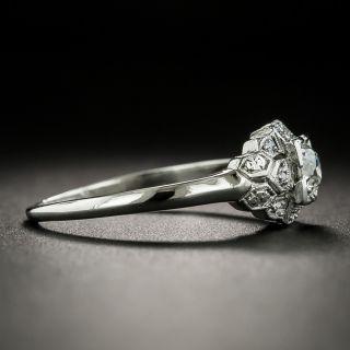 Art Deco .32 Carat Diamond Platinum Engagement Ring