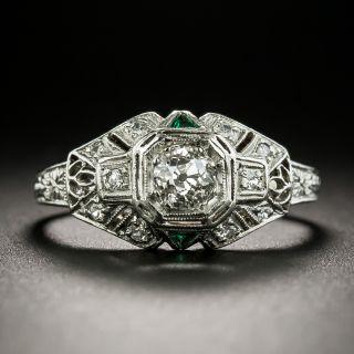 Art Deco .33 Carat Diamond Engagement Ring - 3