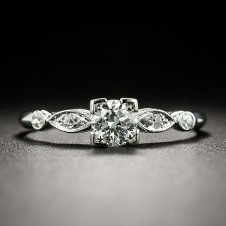 Art Deco .33 Carat Diamond Engagement Ring - 2