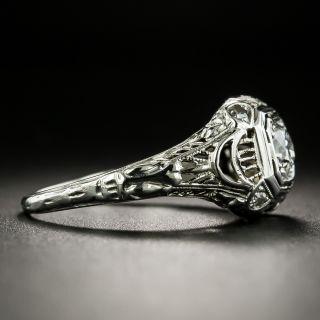 Art Deco .33 Carat Diamond Filigree Ring