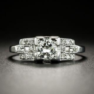 Art Deco .35 Carat Diamond Engagement Ring - 2