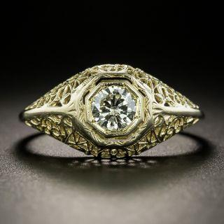 Art Deco.35 Carat Diamond Filigree Ring - 2