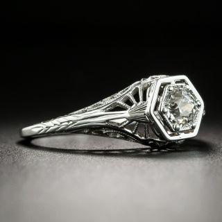 Art Deco .35 Carat Diamond Solitaire Engagement Ring