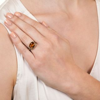 Art Deco 4.00 Carat Citrine Ring