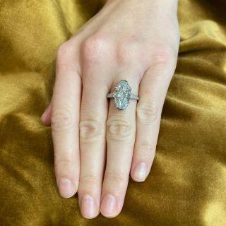 Art Deco 4.45 Carat Oval-Cut Diamond Engagement Ring GIA - D IF Type IIA 'Golconda'