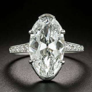 Art Deco 4.45 Carat Oval-Cut Diamond Engagement Ring GIA - D IF Type IIA 'Golconda' - 8