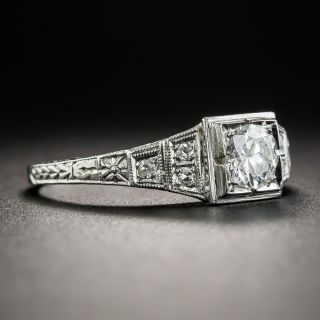 Art Deco .40 Carat Diamond Engagement Ring
