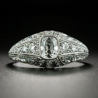 Art Deco .45 Carat Antique Cushion-Cut Diamond Engagement Ring - 2