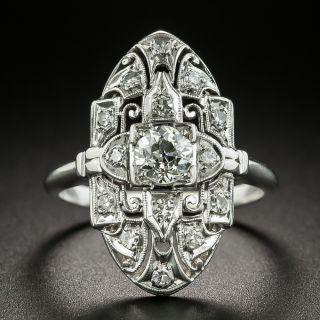 Art Deco .45 Carat Diamond Dinner Ring - 2
